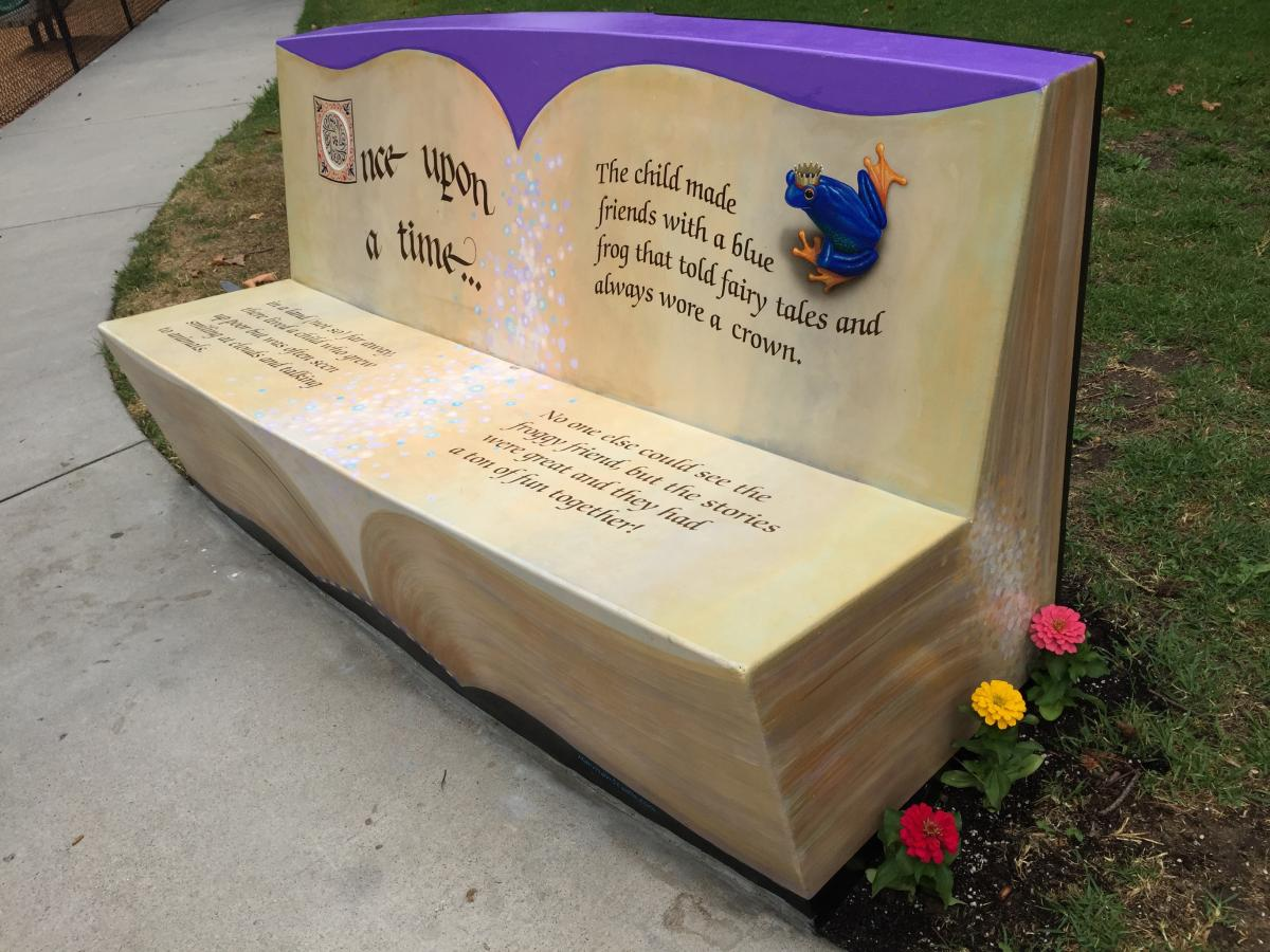 book storage blooms milk brie and crate reading bench
