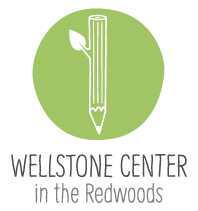 The logo of the Wellstone Center in the Redwoods.