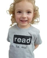 Read To Me Toddler Tee--Grey/Black