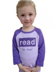 Read To Me Toddler Tee--Lavender/Purple
