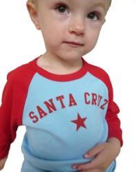 Santa Cruz Toddler Tee--Blue/Red
