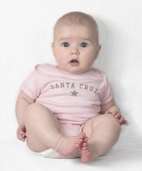 Santa Cruz Baby Onesie--Pink